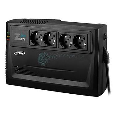 Infosec Z3 Zen Live 650 1000 Convertidor de alta frecuencia 1000 VA con 4 tomas Schuko