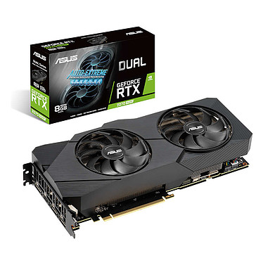 ASUS GeForce RTX 2070 SUPER DUAL-RTX2070S-8G-EVO 8 Go GDDR6 - HDMI/Tri DisplayPort - PCI Express (NVIDIA GeForce RTX 2070 SUPER)