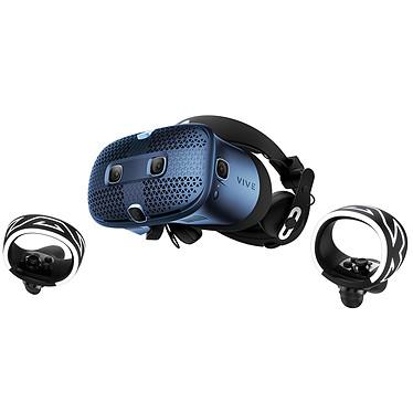 HTC Vive Cosmos Casque de réalité virtuelle avec suivi oculaire de précision + 2 contrôleurs