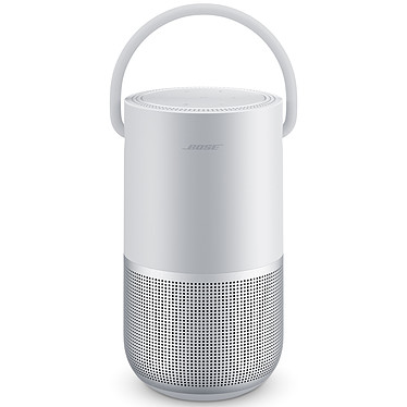 Bose Portable Home Speaker Argent Enceinte portable sans fil - Wi-Fi/Bluetooth/AirPlay 2 - Etanche (IPX4) - 12 h d'autonomie - Google Assistant / Amazon Alexa