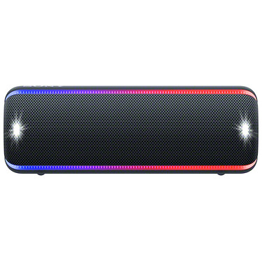 Sony SRS-XB32 Noir Enceinte portable sans fil - Bluetooth/NFC - Etanche (IP67) - Autonomie 24h - Effets lumineux - Extra Bass / Live Sound / Party Booster