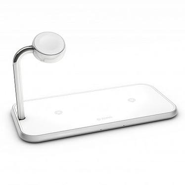 ZENS Aluminium Dual Wireless Charger + Apple Watch 10W Station de charge sans fil pour deux smartphones compatible Qi et montre connectée Apple Watch