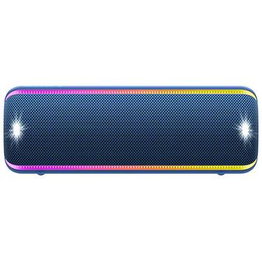 Sony SRS-XB32 Bleu Enceinte portable sans fil - Bluetooth/NFC - Etanche (IP67) - Autonomie 24h - Effets lumineux - Extra Bass / Live Sound / Party Booster