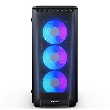 Phanteks Eclipse P400A RGB (Noir) Boîtier moyen tour avec fenêtre latérale en verre trempé et ventilateurs LED RGB