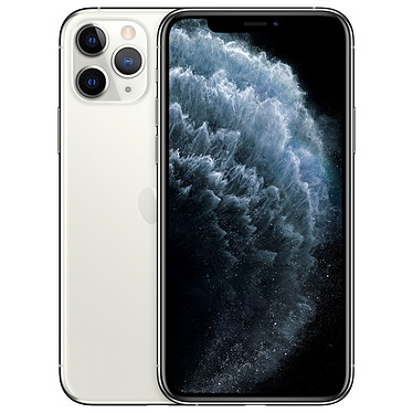 "Apple iPhone 11 Pro 512 Go Argent Smartphone 4G-LTE Advanced IP68 Dual SIM - Apple A13 Bionic Hexa-Core - RAM 6 Go - Ecran 5.8"" 1125 x 2436 - 512 Go - NFC/Bluetooth 5.0 - iOS 13"