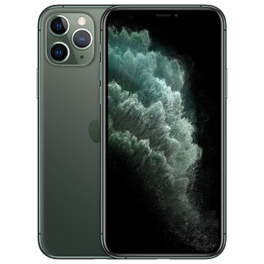 "Apple iPhone 11 Pro 512 Go Vert Nuit · Reconditionné Smartphone 4G-LTE Advanced IP68 Dual SIM - Apple A13 Bionic Hexa-Core - RAM 6 Go - Ecran 5.8"" 1125 x 2436 - 512 Go - NFC/Bluetooth 5.0 - iOS 13"