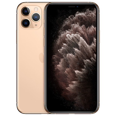 "Apple iPhone 11 Pro 64 Go Or Smartphone 4G-LTE Advanced IP68 Dual SIM - Apple A13 Bionic Hexa-Core - RAM 6 Go - Ecran 5.8"" 1125 x 2436 - 64 Go - NFC/Bluetooth 5.0 - iOS 13"