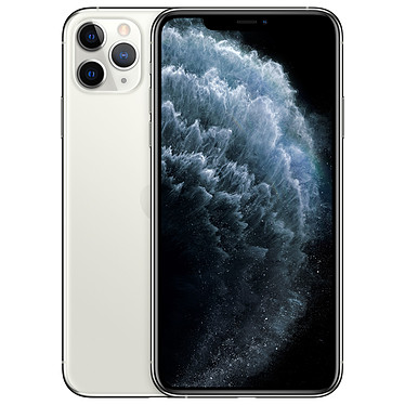 "Apple iPhone 11 Pro Max 64 Go Argent Smartphone 4G-LTE Advanced IP68 Dual SIM - Apple A13 Bionic Hexa-Core - RAM 6 Go - Ecran 6.5"" 1242 x 2688 - 64 Go - NFC/Bluetooth 5.0 - iOS 13"