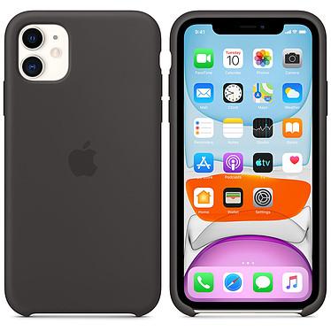 Apple Funda de silicona negra Apple iPhone 11 Funda de silicona para Apple iPhone 11