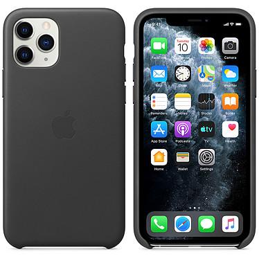 Apple Funda de piel Negro Apple iPhone 11 Pro Funda de piel para Apple iPhone 11 Pro