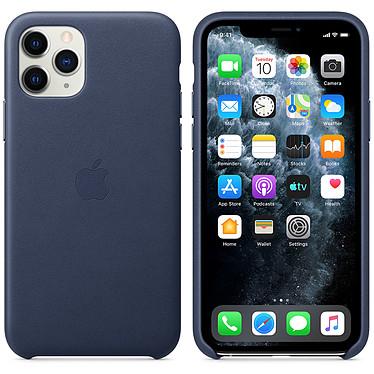 Apple Funda de piel Noche Azul Apple iPhone 11 Pro Funda de piel para Apple iPhone 11 Pro