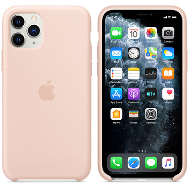 Apple Funda de silicona rosa de arena Apple iPhone 11 Pro Funda de silicona para Apple iPhone 11 Pro