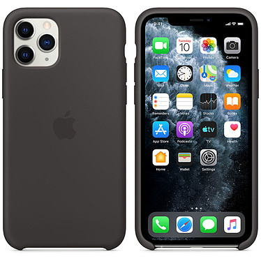 Apple Funda de silicona negra Apple iPhone 11 Pro Funda de silicona para Apple iPhone 11 Pro
