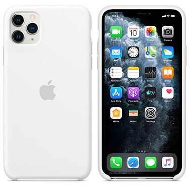 Apple Funda de silicona blanca Apple iPhone 11 Pro Max Funda de silicona para Apple iPhone 11 Pro Max