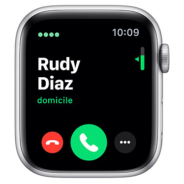 Avis Apple Watch Series 5 GPS + Cellular Aluminium Argent Bracelet Sport Blanc 44 mm