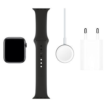 Acheter Apple Watch Series 5 GPS + Cellular Aluminium Gris Sidéral Bracelet Sport Noir 44 mm