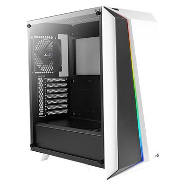 Aerocool Cylon Pro Tempered Glass (Blanc) Boîtier Moyen Tour avec fenêtre latérale et rétroéclairage RGB en façade