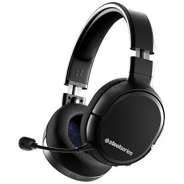 SteelSeries Arctis 1 Wireless PS4 (noir) Casque gaming sans fil - Circum-aural fermé - Microphone détachable avec suppression du bruit - USB-C/Jack - Compatible PC/PlayStation 4/Android