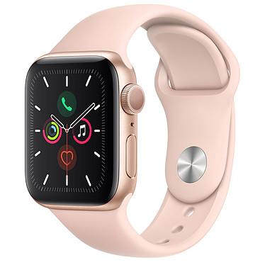 Apple Watch Series 5 GPS Aluminium Or Bracelet Sport Rose des Sables 40 mm Montre connectée - Aluminium - Étanche 50 m - GPS/GLONASS - Cardiofréquencemètre - Écran Retina OLED 324 x 394 pixels - 32 Go - Wi-Fi/Bluetooth 5.0 - watchOS 6 - Bracelet Sport 40 mm