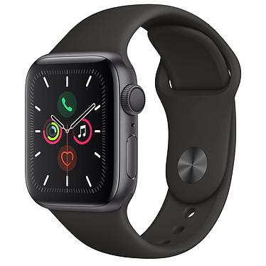 Apple Watch Series 5 GPS Aluminium Gris Sidéral Bracelet Sport Noir 40 mm