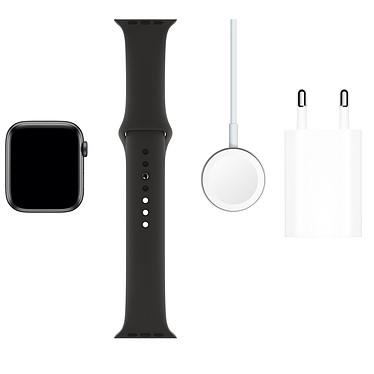 Acheter Apple Watch Series 5 GPS Aluminium Gris Sidéral Bracelet Sport Noir 44 mm