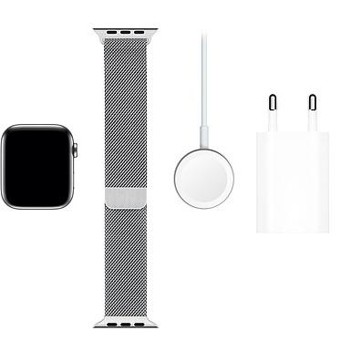 Acheter Apple Watch Series 5 GPS + Cellular Acier Bracelet Milanais Argent 44 mm