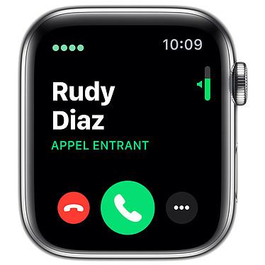 Avis Apple Watch Series 5 GPS + Cellular Acier Bracelet Milanais Argent 44 mm