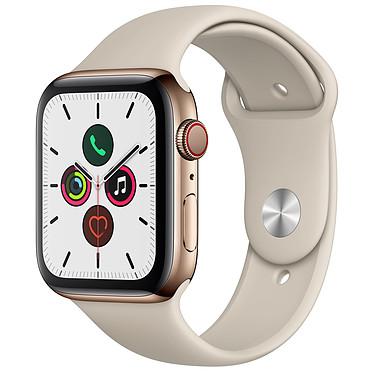 Apple Watch Series 5 GPS + Cellular Acier Or Bracelet Sport Gris Sable 44 mm