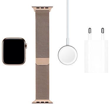 Acheter Apple Watch Series 5 GPS + Cellular Acier Or Bracelet Milanais Or 44 mm
