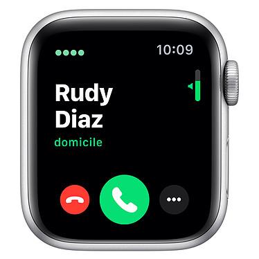 Avis Apple Watch Series 5 GPS + Cellular Aluminium Argent Bracelet Sport Blanc 40 mm