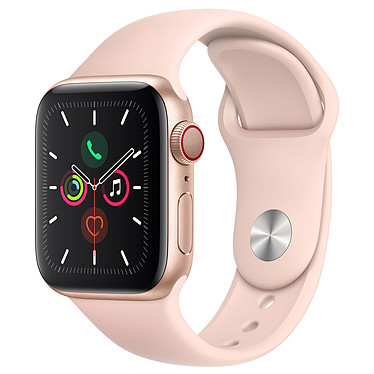 Apple Watch Series 5 GPS + Cellular Aluminio Oro Pulsera deportivo Rosa de Arena 40 mm Reloj conectado 4G - Aluminio - Resistente al agua 50 m - GPS/GLONASS - Cardiofrecuencímetro - Pantalla Retina OLED 324 x 394 píxeles - 32 GB - Wi-Fi/Bluetooth 5.0 - watchOS 6 - Pulsera deportivo 40 mm