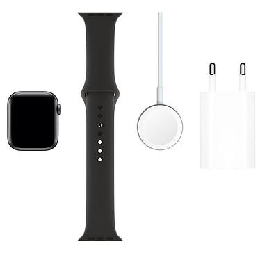Acheter Apple Watch Series 5 GPS + Cellular Aluminium Gris Sidéral Bracelet Sport Noir 40 mm