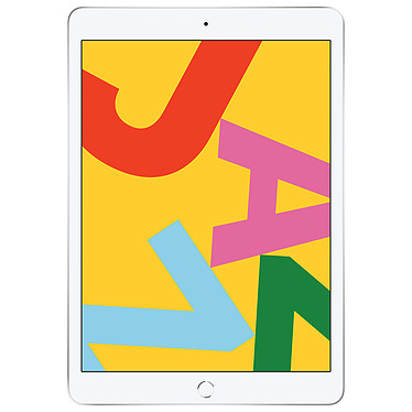 "Apple iPad 10.2 pouces Wi-Fi 128 GB Argent Tablette Internet - Apple A10 Fusion eMMC 128 Go 10.2"" LED tactile Wi-Fi AC/Bluetooth Webcam iPadOS - Compatible Apple Pencil / Smart Keyboard"
