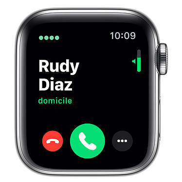 Avis Apple Watch Series 5 GPS + Cellular Acier Argent Bracelet Sport Blanc 40 mm