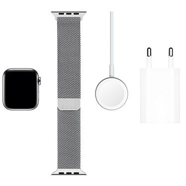 Acheter Apple Watch Series 5 GPS + Cellular Acier Argent Bracelet Milanais Argent 40 mm