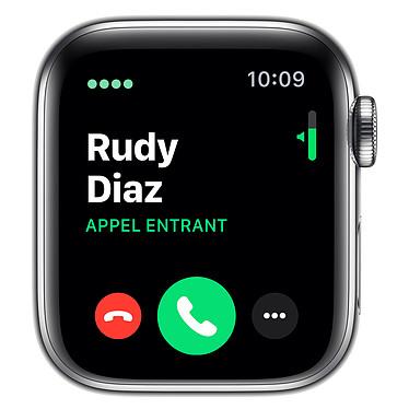 Avis Apple Watch Series 5 GPS + Cellular Acier Argent Bracelet Milanais Argent 40 mm
