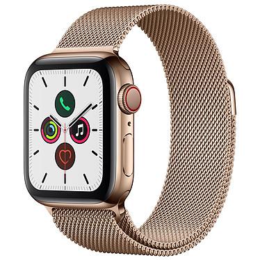 Apple Watch Series 5 GPS + Cellular Acero Oro Pulsera Milanesa Oro 40 mm Reloj conectado 4G - Acero inoxidable - Resistente al agua hasta 50 m - GPS/GLONASS - Cardiofrecuencímetro - Pantalla Retina OLED 324 x 394 píxeles - 32 GB - Wi-Fi/Bluetooth 5.0 - watchOS 6 - pulsera milanesa 40 mm