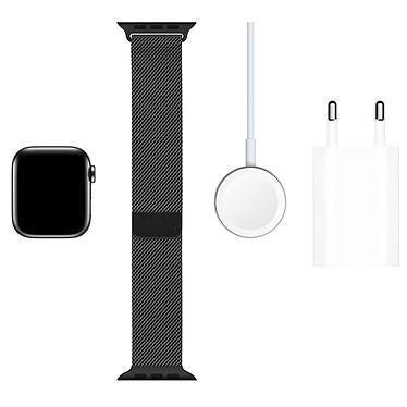 Acheter Apple Watch Series 5 GPS + Cellular Acier Noir Bracelet Milanais Noir 40 mm
