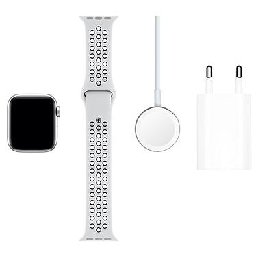 Acheter Apple Watch Series 5 Nike GPS Aluminium Argent Bracelet Sport Platine Pur/Noir 40 mm