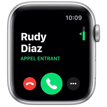 Avis Apple Watch Series 5 Nike GPS Aluminium Argent Bracelet Sport Platine Pur/Noir 44 mm