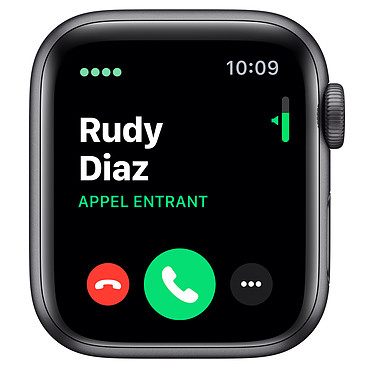 Avis Apple Watch Series 5 Nike GPS + Cellular Aluminium Gris Sidéral Bracelet Sport Noir 40 mm