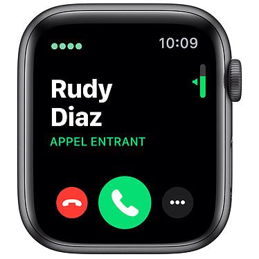 Avis Apple Watch Series 5 Nike GPS + Cellular Aluminium Gris Sidéral Bracelet Sport Noir 44 mm