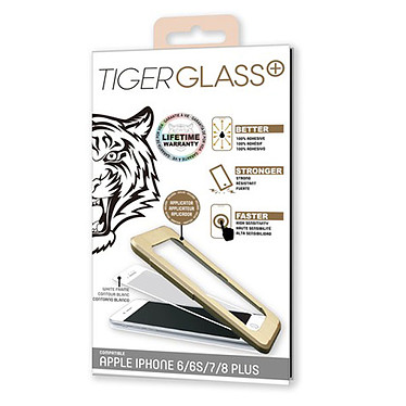 Tiger Glass Plus Verre Trempé 9H+ Blanc Apple iPhone 6/6s/7/8 Film de protection en verre trempé pour Apple iPhone 6/6s/7/8
