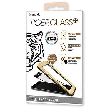 Tiger Glass Plus Verre Trempé Noir Apple iPhone 6/6s/7/8 Film de protection en verre trempé pour Apple iPhone 6/6s/7/8