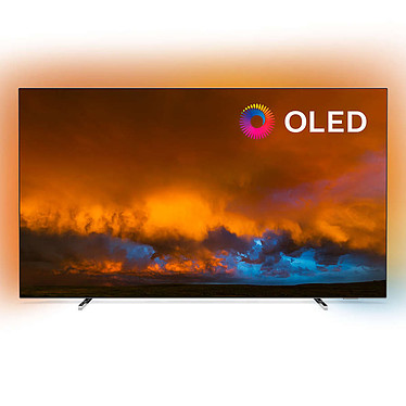 "Philips 55OLED804 Téléviseur OLED 4K Ultra HD 55"" (140 cm) 16/9 - 3840 x 2160 pixels - HDR - Wi-Fi - Bluetooth - Android TV - Google Assistant - 5000 Hz - Son 2.1 50W"