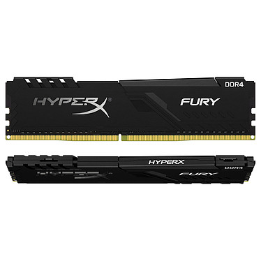 HyperX Fury 16 Go (2 x 8 Go) DDR4 2400 MHz CL15 Kit Dual Channel 2 barrettes de RAM DDR4 PC4-19200 - HX424C15FB3K2/16