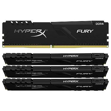 HyperX Fury 64 GB (4 x 16 GB) DDR4 2666 MHz CL16 Kit Quad-Channel 4 tiras de RAM DDR4 PC4-21300 - HX426C16FB3K4/64