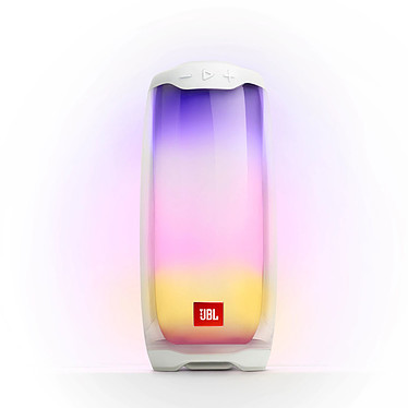 JBL Pulse 4 Blanc Enceinte portable 20W IPX7 Bluetooth avec animation lumineuse