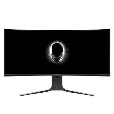 """Alienware 34"""" LED - AW3420DW 3440 x 1440 pixels - 2 ms (gris à gris) - Format large 21/9 - Dalle Nano-IPS incurvée - Rétroéclairage RGB - G-Sync - DisplayPort - HDMI - Hub USB 3.0 - Argent/Noir"""