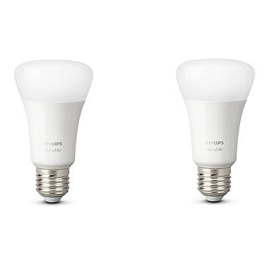 Philips Hue White E27 Bluetooth x 2 Pack de 2 ampoules E27 - 9 Watts